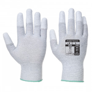 Manusa antistatica vending aplicatii PU pe varful degetelor, culoare Gri