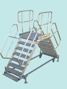 Platforma aluminiu mobila 45 grade dubla Gmax: 400 kg - tip PN45D