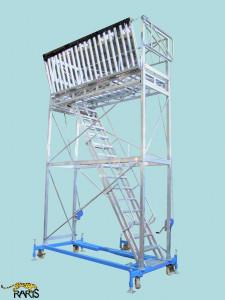 Platforma rabatabila, in consola, mobila, cu calare, din aluminiu si otel, tip PCMA