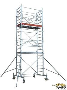 Schele , profesionale, mobile, din aluminiu, cu suprafata podina 2,5x0,7m, Hlucrumax: 4,3-14.3m, tip U2.5