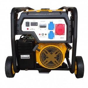Stager FD 7500E3 generator open-frame, 6kW, trifazat, benzina, pornire electrica