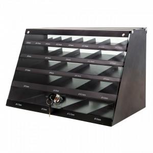 Burghie HSS Roluite pentru metal - DIN 338 - cabinet 345 buc Milwaukee