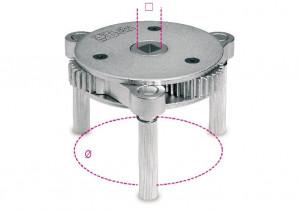 Cheie de filtru cu 3 brate, diametru 80-115mm 1493/S