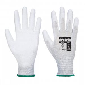 Manusa antistatica vending aplicatii PU in palma, culoare Gri
