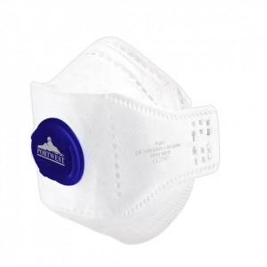 Masca de protectie cu valva Dolomite Fold EAGLE FFP2, pachet 10 buc, culoare Alb
