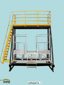 Platforma , mobila, dubla, glisabila, din otel si aluminiu, tip POAG