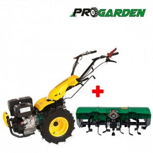 ProGARDEN Pachet BT330/G190 motocultor multifunctional, 14CP, benzina, 3+2 viteze, freza tractata BT-X90 900mm