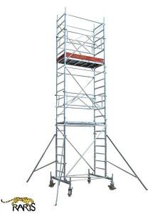 Schele , profesionale, mobile, din aluminiu, cu suprafata podina 1,6x0,7m, Hlucrumax: 4,3-14,3m, tip U1,6