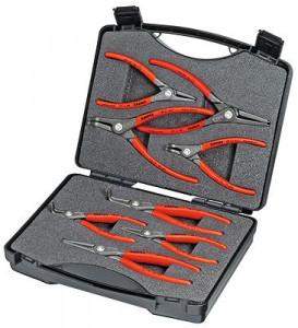 Set Cleşti KNIPEX de precizie pentru inele siguranţă in geanta rezistenta, 8 piese