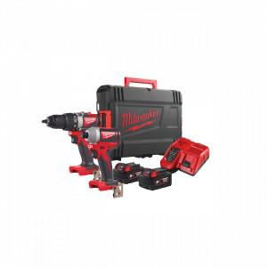 Set scule cu motor fără perii cu acumulatori M18™ Milwaukee M18 BLPP2B2-502X