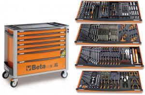 Dulap extra-lung cu 7 sertare si 300 scule mecanica auto C24SAXL/7-300