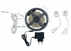 Kit Banda LED 2x1.5M/4000K/12V + 2 Senzori 180°