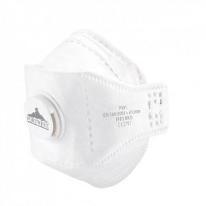 Masca de protectie cu valva Dolomite Fold EAGLE FFP3, pachet 10 buc, culoare Alb