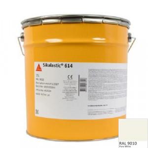 Membrana lichida Sikalastic 614 RAL 9010 alba 21,75 kg