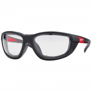 Ochelari de protecție transparenți premium cu garnitură - 1 buc.