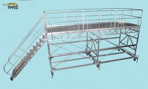 Platforma mobila aluminiu la 45 grade cu podina extinsa - tip MAMT
