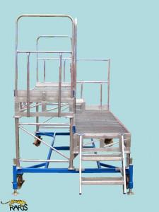 Platforma , mobila, dubla, din otel si aluminiu, cu suruburi de calare, tip PRMD