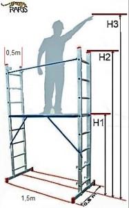 Scara-schela aluminiu de casa tip SSC