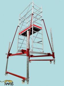 Schela din otel zincat, profesionala, pentru sali de sport, conferinte, spectacole, tip S1.6-S