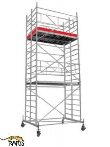 Schele , profesionale, mobile, din aluminiu, cu suprafata podina 2.5x1.4m, Hlucrumax: 4.3-14.3m, tip W2.5