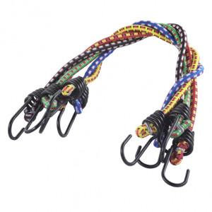 Set 5 corzi elastice cu carlige Wolfcraft , lungime 0.5 m