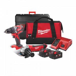 Set scule cu acumulatori M18™ Milwaukee M18 CBLPP2D-402B