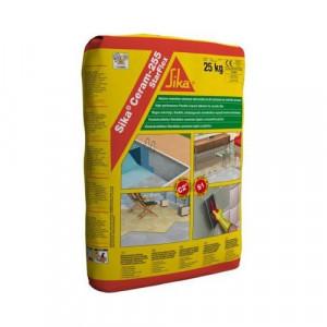 Adeziv flexibil pentru gresie si faianta Sika Ceram 255, interior/exterior, gri, 25 kg