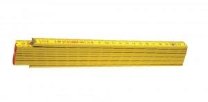 Block 52 Y Metru lemn fag 2 m imbinari din otel si nituri vizibile, culoare gaben 2 m