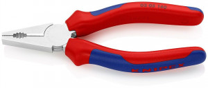 Cleste combinat cromat, patent, manere multicomponent, KNIPEX, 140 mm