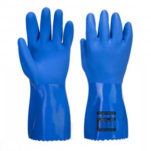 Manusi Chimice Marine Ultra PVC, culoare Albastru