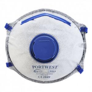 Masca de Protectie Respiratorie Dolomita Carbon FFP2, pachet 10 buc, culoare Alb