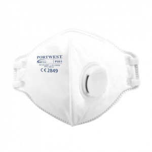 Masca de Protectie Respiratorie Vertical FFP3 Dolomite, pachet 20 buc, culoare Alb