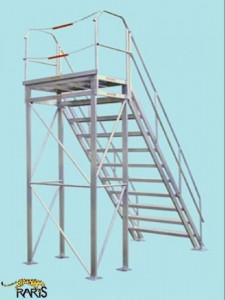Platforma fixa la 45 0 , incarcarera maxima: 400kg ,tip PF45