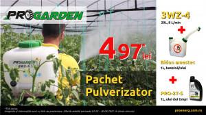 ProGARDEN 3WZ-4 pulverizator 20L, 8 L/min, ulei si bidon amestec