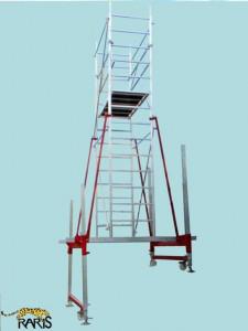 Schela din otel zincat si aluminiu, profesionala, pentru sali de sport, conferinte, spectacole, tip U1.6-S