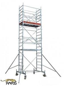 Schele , profesionale, mobile, din aluminiu, cu suprafata podina 2,0x0,7m, Hlucrumax: 4.3-14.3m, tip U2,0