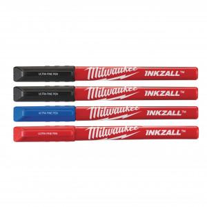 Marker color cu vârf subțire INKZALL™, pachet 4 buc