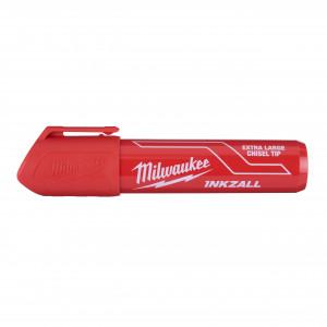 Marker INKZALL™ roșu cu vârf lat - mărimea XL