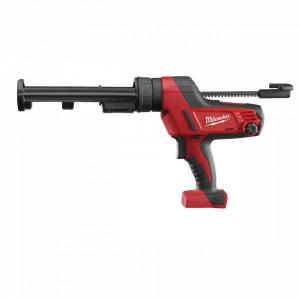 Pistol de silicon Milwaukee C18 PCG/310C-0B, tub 310 ml, livrat fara acumulator, cu geanta