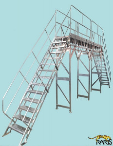 Platforma aluminiu 45 grade dubla podina extinsa - tip PFE45D
