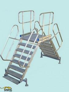 Platforma , fixa, 45 0 , dubla, incarcare maxima:400 kg, tip PF45D