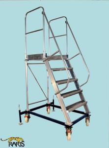 Platforma la 60 0 , mobila, rigidizata, baza otel, structura aluminiu, cu suruburi de calare, tip PBM