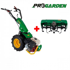 ProGARDEN Pachet BT330/G177 motocultor multifunctional 9CP, benzina, 3+2 viteze, freza tractata BT-X65 650mm