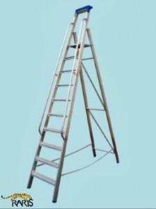 Scara profesionala, pliabila, rigidizata, cu balustrada, tip ARB