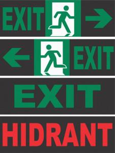Autocolant Lampa Exit 30 Led