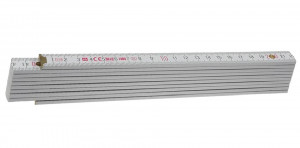 Block 72 W Metru lemn fag 2 m imbinari din plastic si nituri vizibile otel, culoare alb 2 m