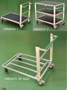 Carucioare-sistem din aluminiu pentru sarcini mari, tip CSA