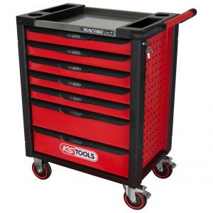 Carucior de atelier cu placa de lucru din inox, KS TOOLS RACINGline, 7 sertare