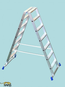 Scara platforma profesionala , dubla, rigidizata, tip 2NL