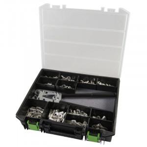 Set, cleste de sertizare + papuci DIN 46235, 6 - 50 mmp, 381 piese